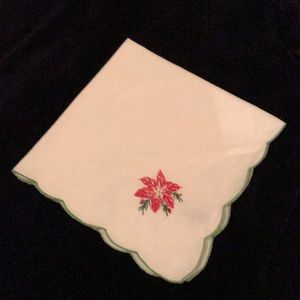 Set of 8 Poinsettia Napkins